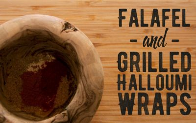 Falafel & Grilled Halloumi Wraps