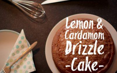 Lemon & Cardamom Drizzle Cake